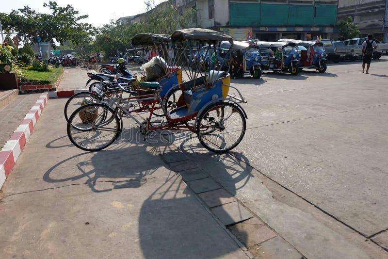 Estilo tailandés del triciclo fotos de archivo libres de regalías