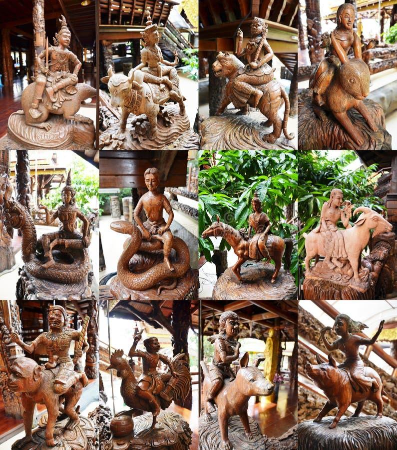 Estilo tailandés del zodiaco de Tailandia doce fotografía de archivo