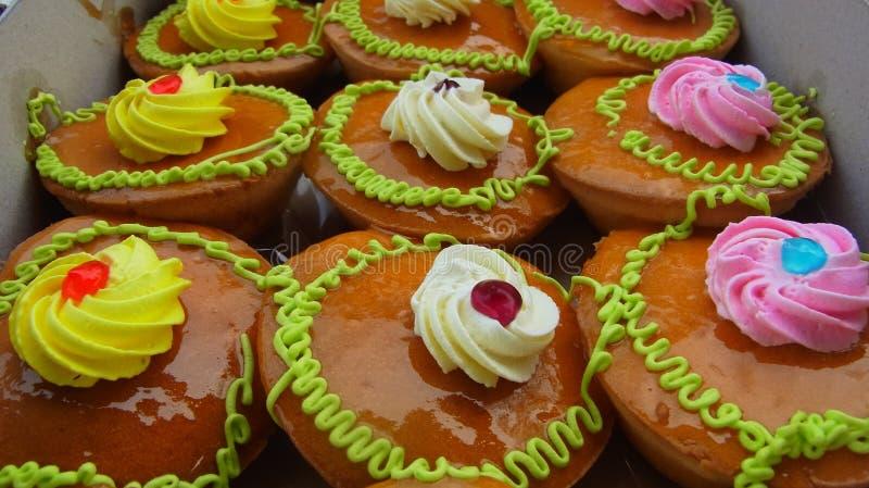 Estilo tailandês do bolo imagens de stock royalty free