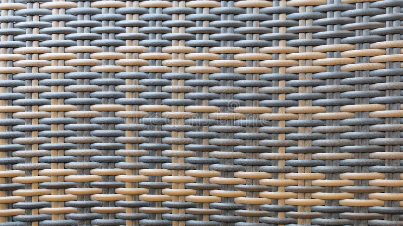 Estilo tailandês tradicional superfície de madeira da textura do fundo do teste padrão do Weave do Rattan de Brown escuro e do ar fotos de stock royalty free