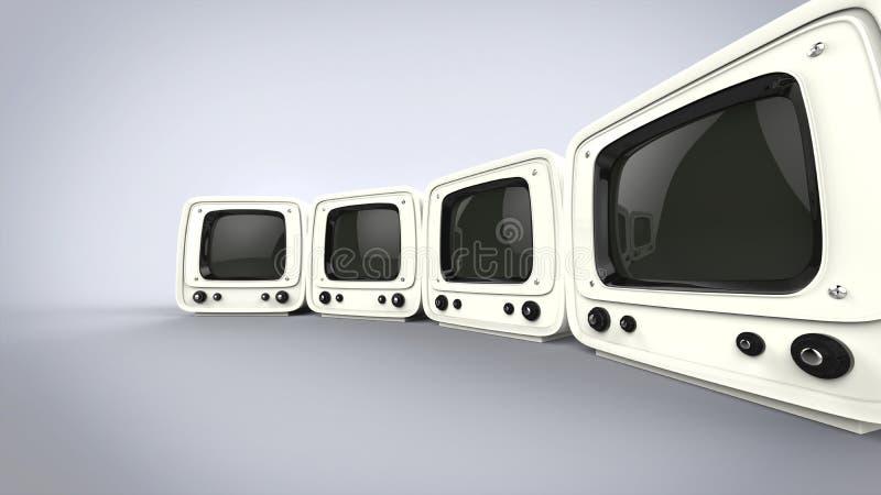 Estilo TV de cuatro vintages ilustración del vector