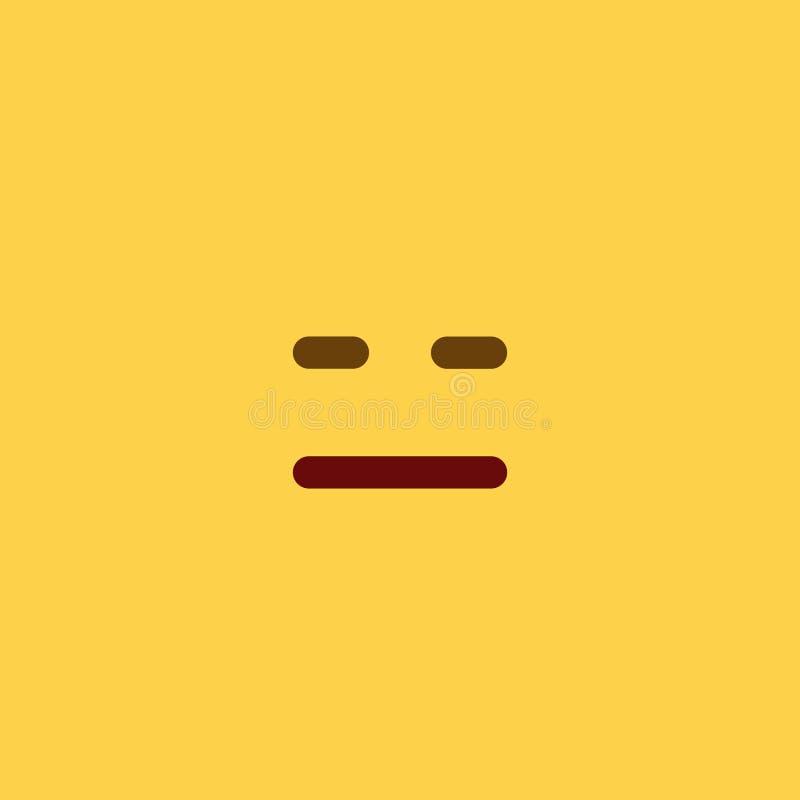 Estilo vazio Emoji da telha imagens de stock royalty free