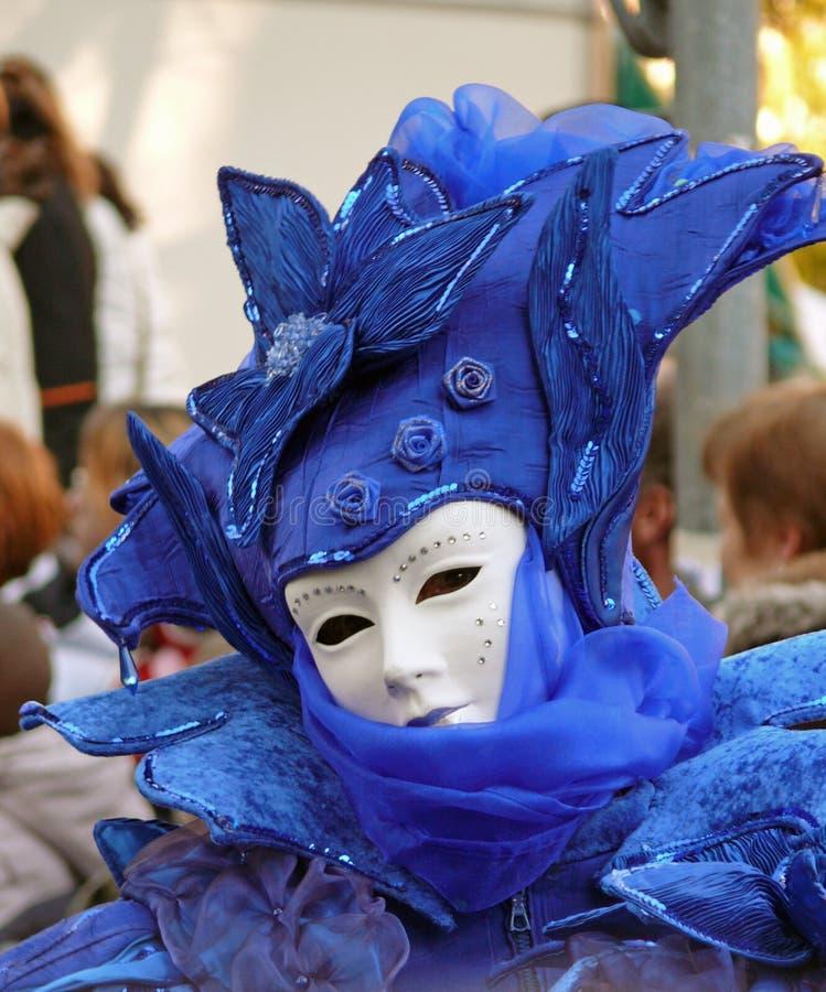Estilo venecian da máscara do carnaval fotos de stock royalty free