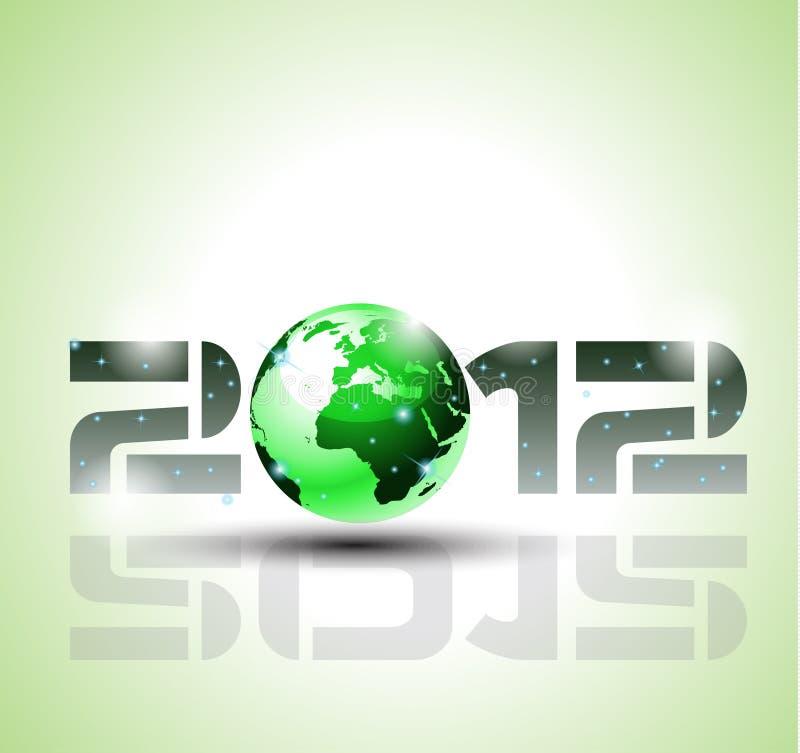 Estilo verde de alta tecnología y de la ecología 2012 ilustración del vector