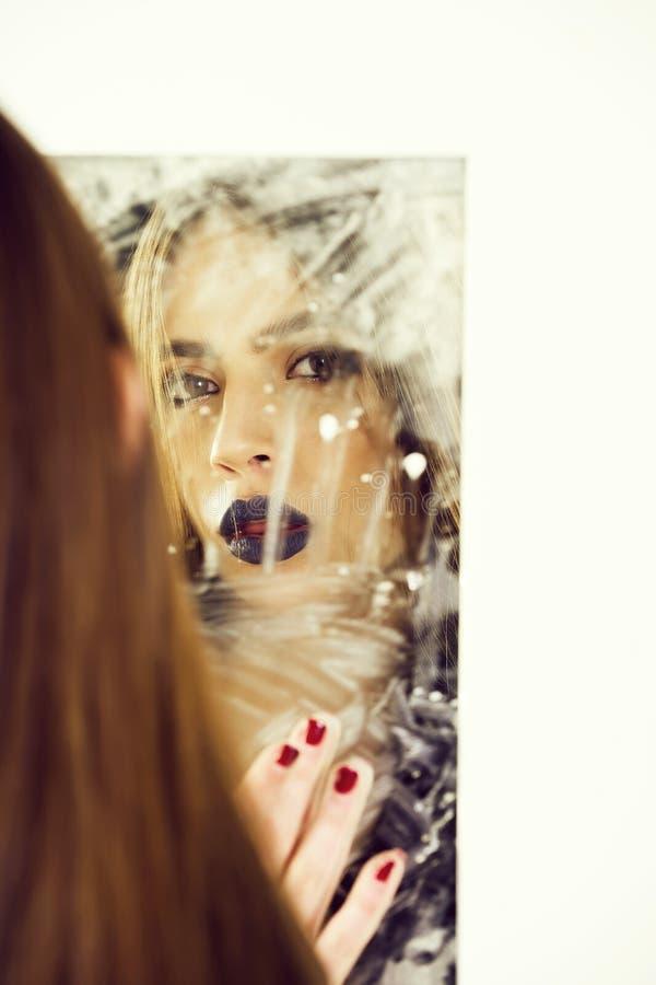 Estilo y perfección, vida futura moda y belleza, reputación manchada, aspiraciones y opinión de uno mismo, perfección foto de archivo
