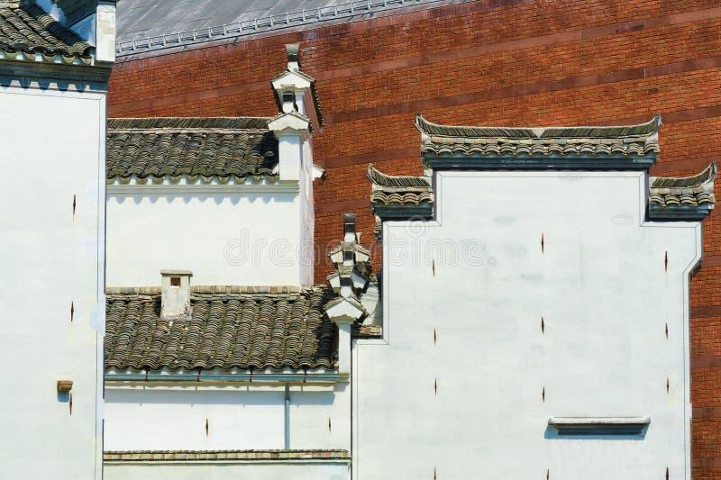 Estilos abstractos de la arquitectura de dos edificios foto de archivo libre de regalías