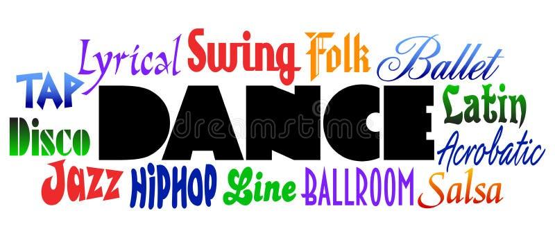Estilos da dança ilustração royalty free