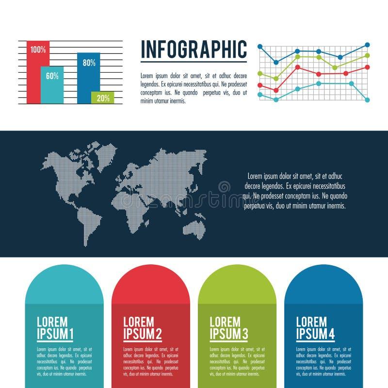 Estilos y organización de Infographic ilustración del vector