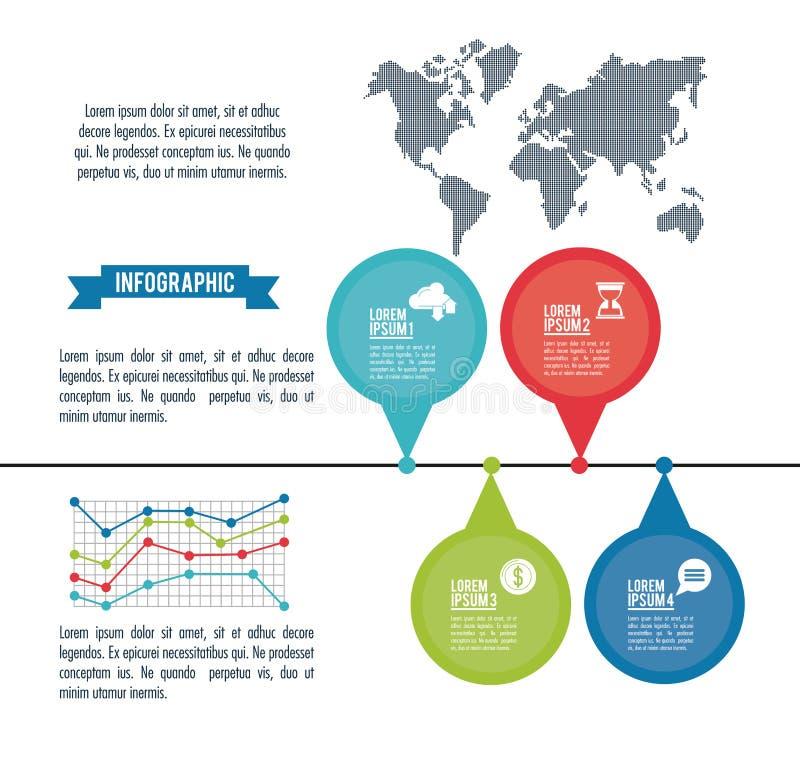 Estilos y organización de Infographic libre illustration