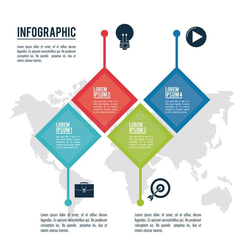 Estilos y organización de Infographic stock de ilustración