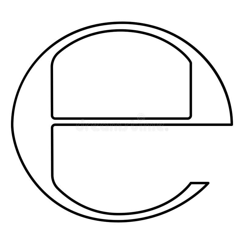 Estimated sign E mark symbol e icon black color illustration flat style simple image. Estimated sign E mark symbol e icon black color vector illustration flat royalty free illustration