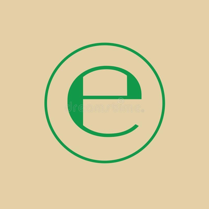 Estimated Sign E Mark Symbol Icon. Vector Illustration stock illustration