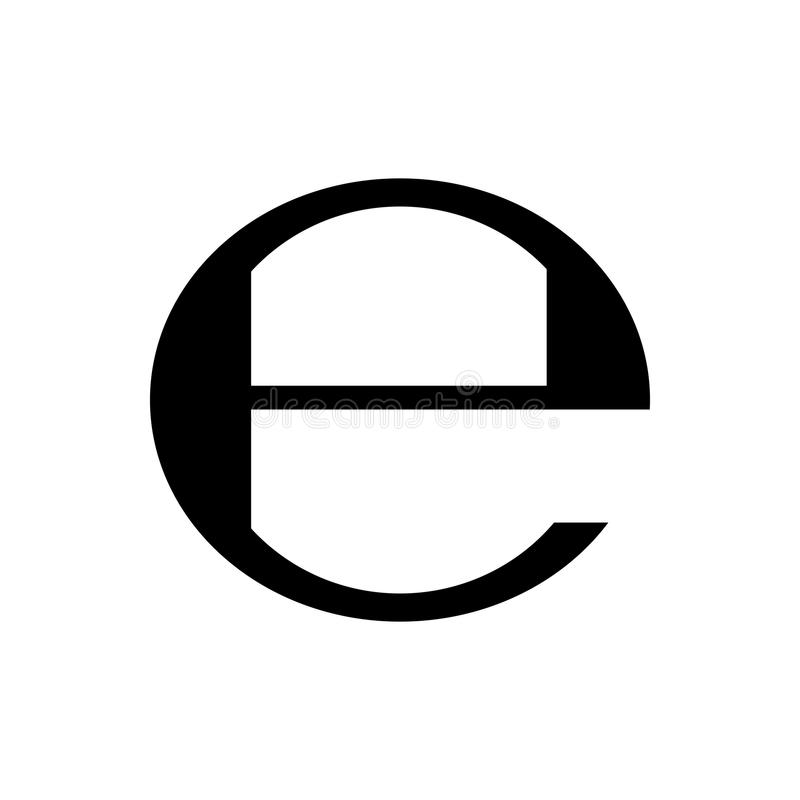 Estimated sign packaging symbol. Vector. Estimated sign, packaging e symbol. Vector illustration stock illustration