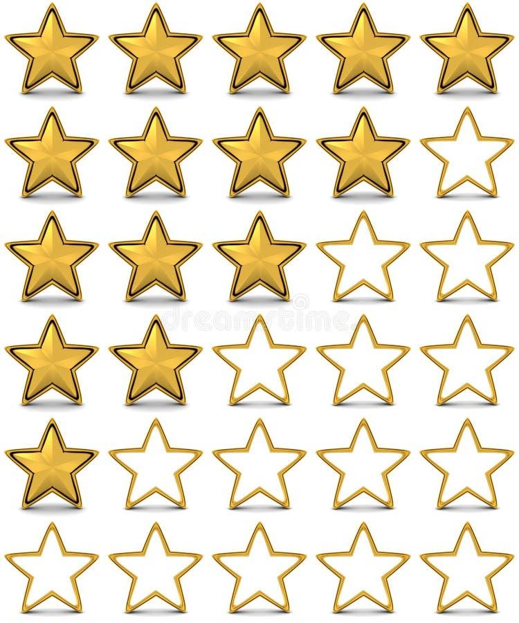 Estimation d'étoile illustration libre de droits