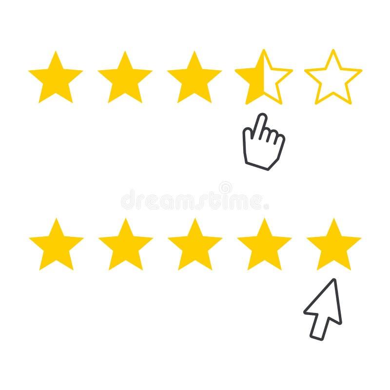 Estimation, icône de rang avec le curseur illustration libre de droits