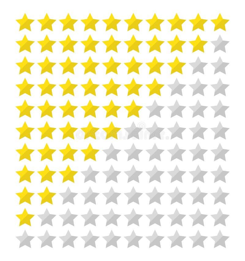 Estimation plate d'étoile illustration stock