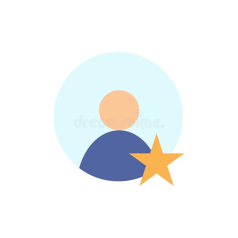 Estimation, utilisateur, icône plate de couleur de profil Calibre de bannière d'icône de vecteur illustration stock