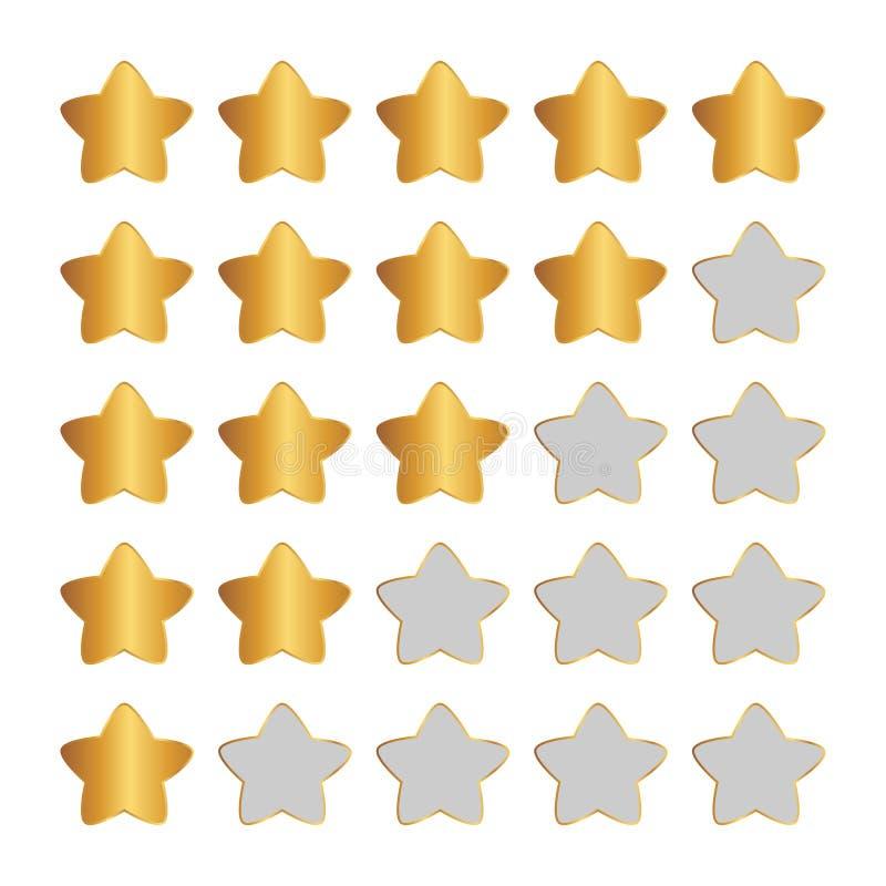 Estimations d'étoile d'isolement par or illustration libre de droits