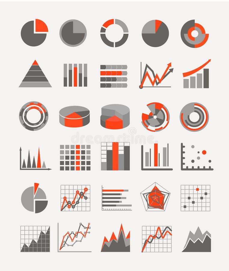 Estimations et diagrammes graphiques d'affaires illustration stock