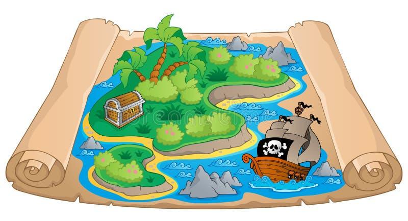 Estime a imagem 4 do tema do mapa ilustração stock