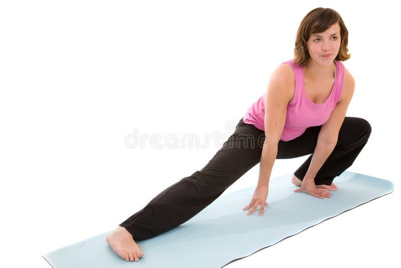 Estiramento da ioga fotos de stock royalty free