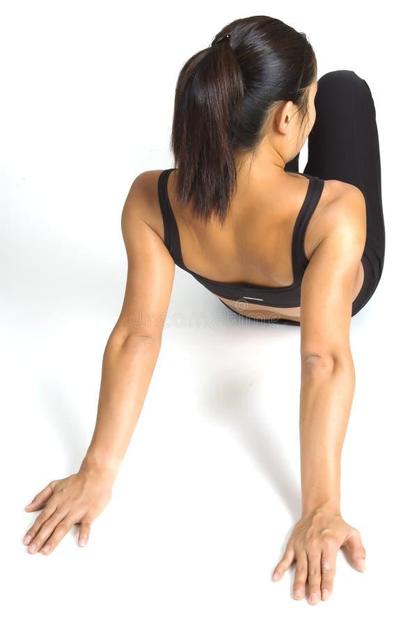 Estiramento do ombro foto de stock royalty free