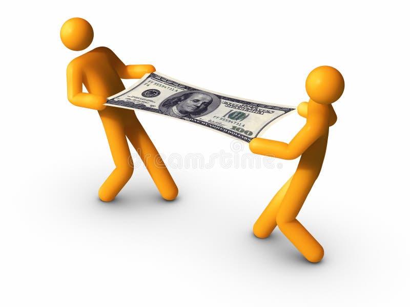 Estiramento do orçamento. ilustração stock