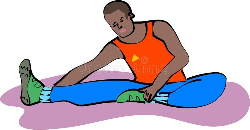Estirar ejercicio ilustración del vector