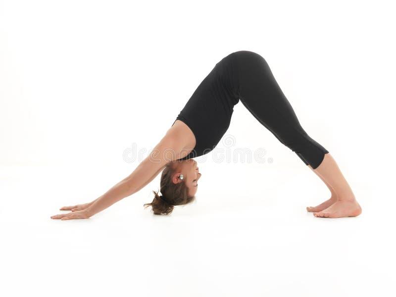 Estirar postura de la yoga fotos de archivo libres de regalías