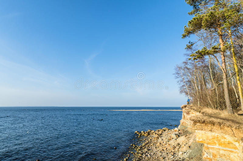EstländareÖstersjön kust royaltyfri bild