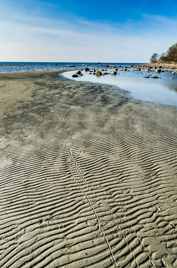 EstländareÖstersjön kust, tidvattnet fotografering för bildbyråer