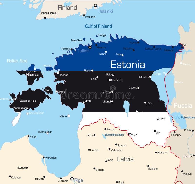 Estland vektor illustrationer