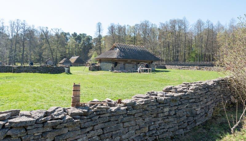 Estland-Freilicht-Museumsausstellung lizenzfreie stockfotos