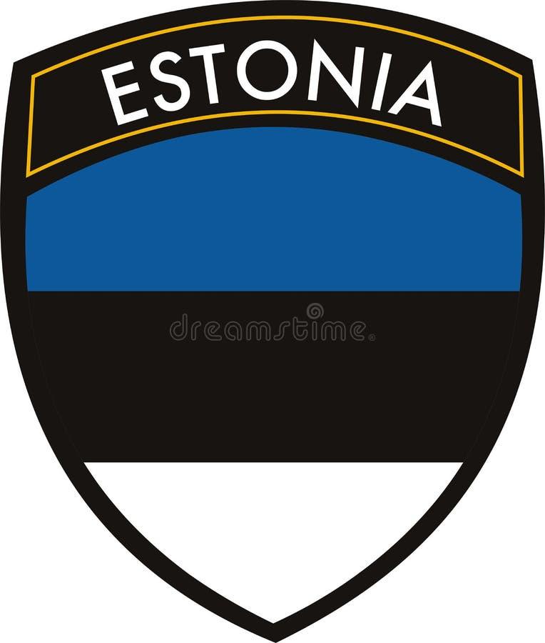 Estland-Markierungsfahne stock abbildung