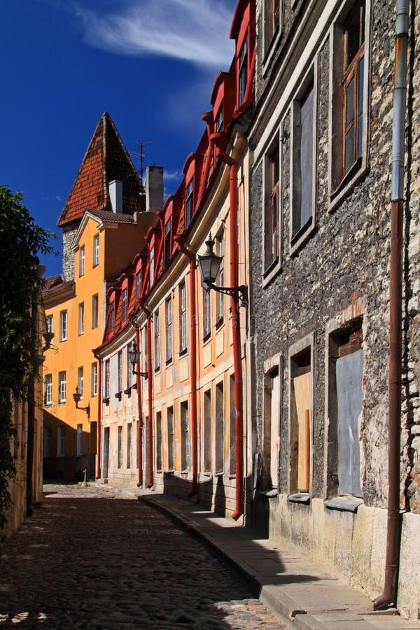 Estland: Oude stad van Tallinn royalty-vrije stock fotografie