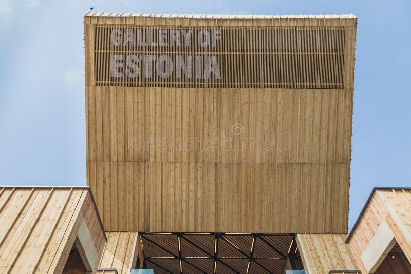 Estland paviljong på expon 2015 i Milan, Italien royaltyfria bilder