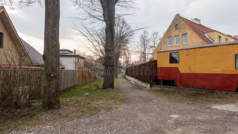 Estland Tallin stad distric Kopli royaltyfri bild
