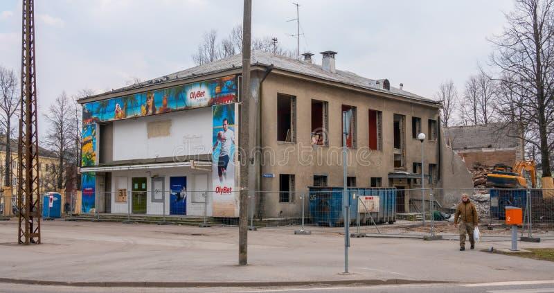 Estland Tallinn Kopli distric områdessikt royaltyfri foto