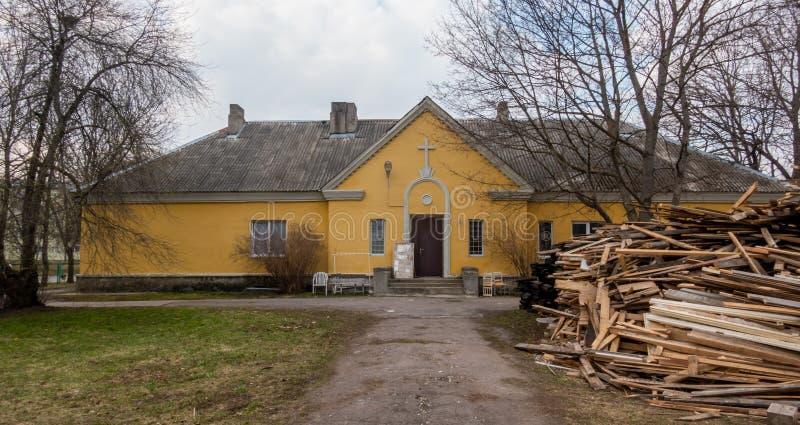 Estland Tallinn Kopli distric områdessikt royaltyfria foton