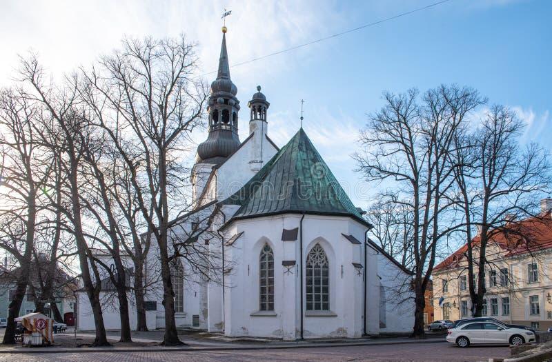 Estland Tallinn Toompea, gammal stadbyggnad fotografering för bildbyråer