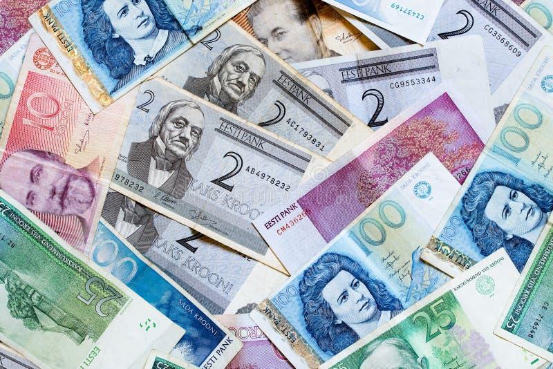 Estlands geld royalty-vrije stock fotografie