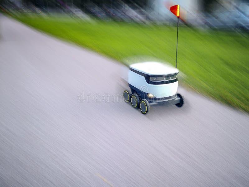 Estlandse leveringsrobots Cyber-koeriers royalty-vrije stock afbeelding