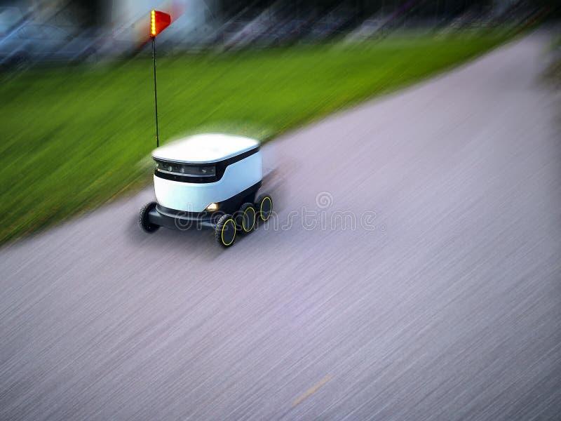 Estlandse leveringsrobots Cyber-koeriers royalty-vrije stock foto's