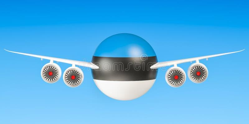 Estlandse luchtvaartlijnen en het vliegen stock illustratie