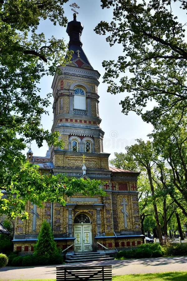 Estnische apostolische orthodoxe Parnu-Umwandlung von unserem Lord Church lizenzfreies stockbild