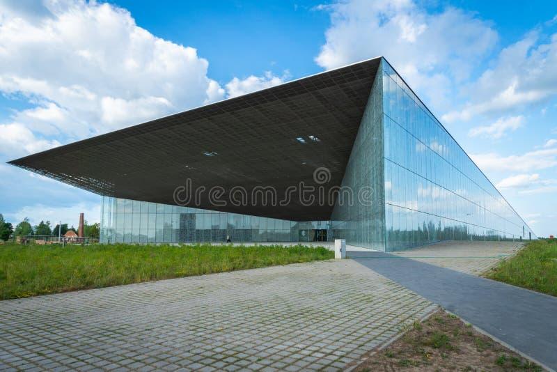 Estnische Nationalmuseumarchitektur in Tartu, Estland lizenzfreies stockfoto