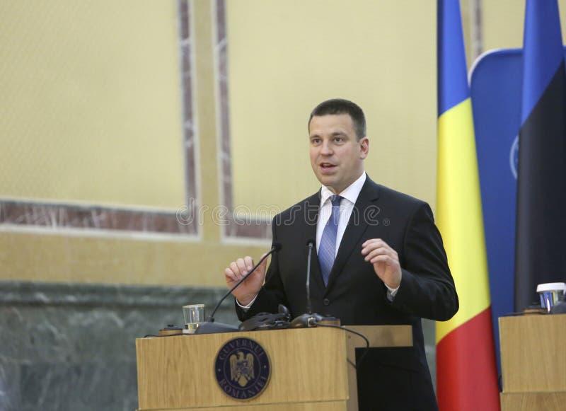 Estoński Pierwszorzędny minister Juri Ratas fotografia royalty free