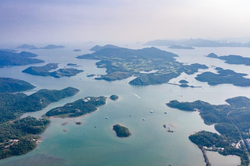 Esto está sobre la isla en Sai Kung imagen de archivo libre de regalías