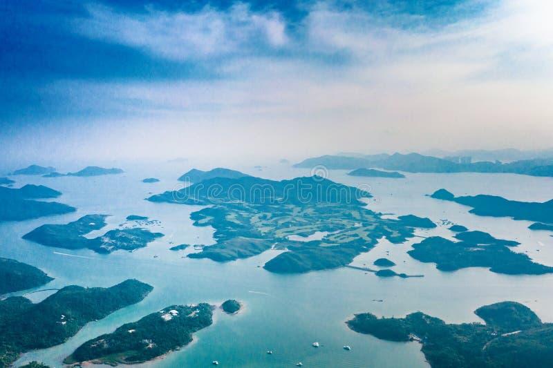 Esto está sobre la isla en Sai Kung foto de archivo