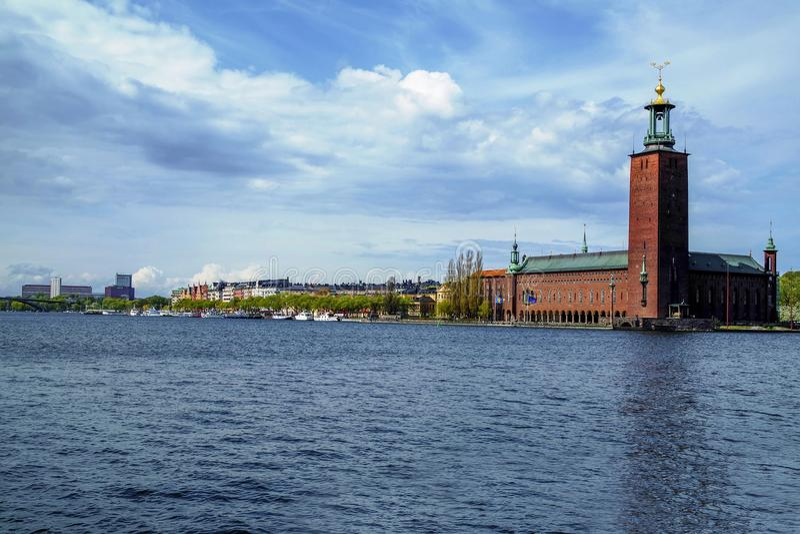 Estocolmo en el agua fotografía de archivo